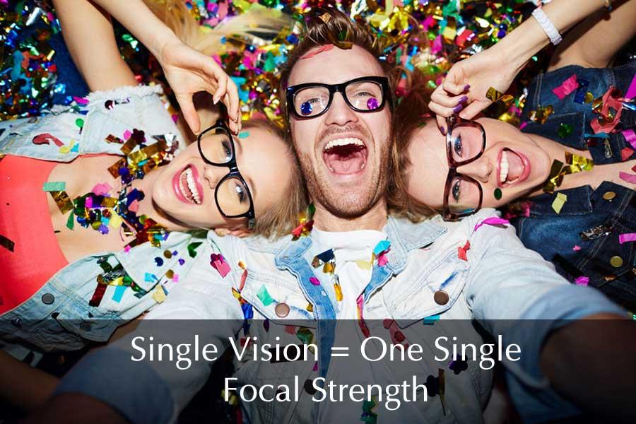 Single Vision Eyeglass Lenses Means One Focal Strength