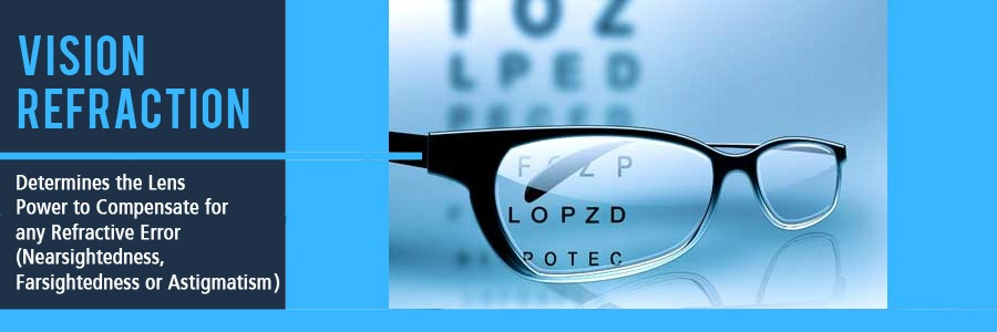 Vision Refraction for Contacts or Glasses